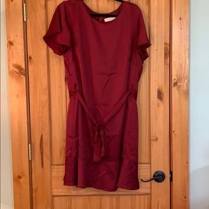 Loft Tie  Waist Flounce Dress